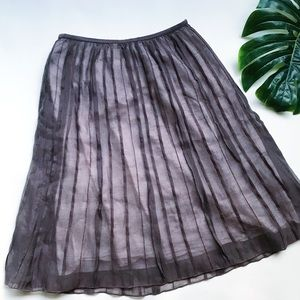 NIC AND ZOE | RAW PLEATED | LINED | MIDI SKIRT M16